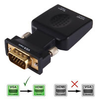 VGA to HDMI Output HD 1080P TV AV HDTV Video Cable Converter Adapter with Audio