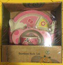 EcoBamboo Ware Kids Bamboo Dinnerware Set 5-Piece Butterfly, Nib Ship From Store