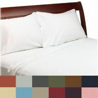 Bed Sheet Set Flat Fitted Mattress Linens King Queen Full Twin Choose Color/Size