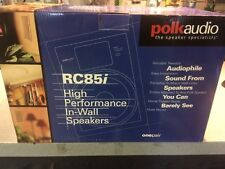 """✰✰ (2) POLK AUDIO RC85I 8"""" 2-WAY IN WALL HOME THEATER SPEAKERS ✰BRAND NEW✰ PAIR"""