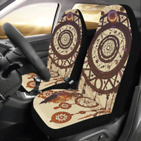1Pcs Universal Front Car Seat Covers Cushions Protector Datura Polyester  r G /-
