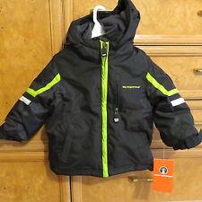 Boys Weatherproof double zipper warm wintercoat black with hood size 2T NWT $70