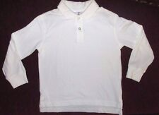 EUC Youth Girls Boys Size 110 5 / 6 Hanna Andersson White Long Sleeve Polo Shirt