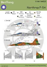 Bestfong Decal 1/144 Northrop F-5A R.O.C. (Taiwan) AF