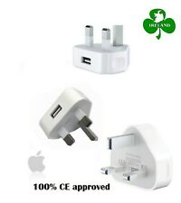 Apple iPhone X 8 7 6S 6 5 5S 5C 4S 4 UK AC Plug Wall Mains USB Charger Adapter