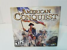 American Conquest Three Centuries of War, PC CD-ROM, NEW