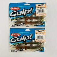 "NEW 12 Count Berkley GULP! 3"" / 8cm Floating Shrimp Saltwater Fishing Bait Lure"
