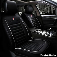 Vauxhall Opel Black Comfortable Leatherette Luxury Soft Front Car Seat Covers