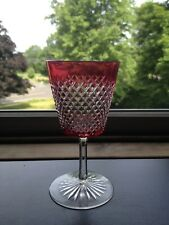 Antique ABP Brilliant Period Ruby Red Cut To Clear Sherry Glass