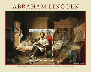 Gambia - Abraham Lincoln Emancipation Proclamation 150th Ann.Stamp- S/S  MNH