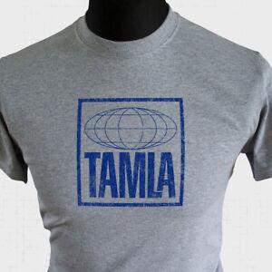 Tamla T Shirt Retro Vintage Distressed Music Company Tee Motown Grey