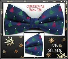 Christmas Bow Tie Party Butterfly Cravat Christmas Gift Unisex Festive Trees UK