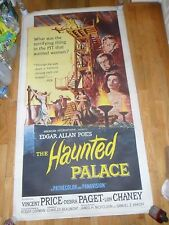 The Haunted Palace ORIGINAL 1963 LINENBACKED 3-SHEET POSTER Vincent Price Chaney