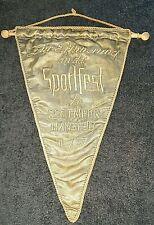Orig. Übergabe Wimpel 1957 gestickt BSG Empor Mansfeld Hettstedt DDR Fussball