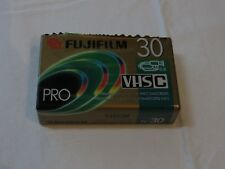 Fujifilm VHS-C Tape Pro Premium High Grade Camcorder TC 30 Video Cassette blank