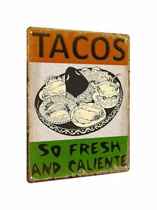 TACOS MEXICAN food METAL sign / VINTAGE style RESTAURANT wall decor display 574