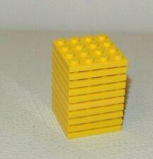 Lego: Bundle 10x Plate 4 x 4 - Ref 3031 Yellow - Set 4565 7964 8680
