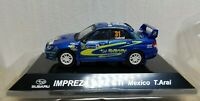 1/64 CM's SUBARU IMPREZA WRX WRC STI Rally Mexico T.Arai diecast car model