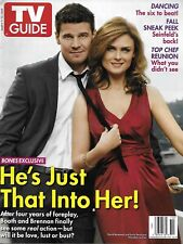 Tv Guide Magazine Bones David Boreanaz Emily Deschanel Dancing With The Stars