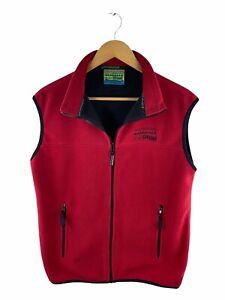 Kathmandu Full Zip Wind Fleece Vest Women Size S Red Sleeveless Logo Zip Pockets