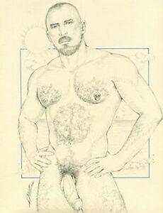 "Male Nude Adult Gay Art ""Odd"" Original, NOT a copy by Mario Bieletto"