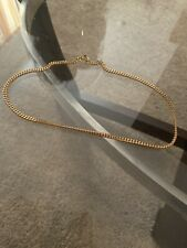 14 k real chain necklace gold