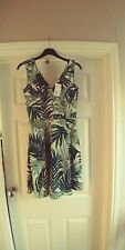H&m H & M Green Skater Dress Fit N Flare Small