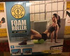 """Gold's Gym 18"""" Foam Roller Green in Color New in """"Box"""""""
