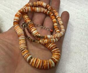 """Gradual spiny oyster shell heishi necklace//21.5"""" length(w305s-w2)"""