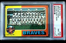1975 TOPPS SET BREAK PSA 8 - NQ - ATLANTA BRAVES TEAM CARD - #589