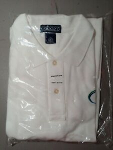 Company Logo Golf Shirt made by Lands End White Excellent Condition XL (46-48)