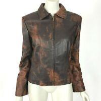 REVUE Lambskin Leather Jacket Super Soft Long Sleeve Full Zip  Women Small