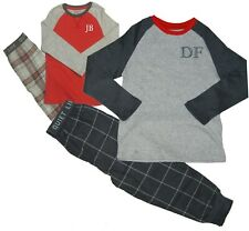 Boys Personalised Pyjamas Embroidered Ex Chainstore Beautiful Gift 3-16 Yrs
