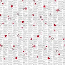 Less than 1 Metre Love & Hearts 100% Cotton Craft Fabrics