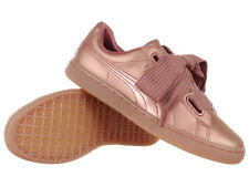 Women's Puma Basket Heart Copper Sports Shoes Everyday Trainers
