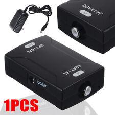 Coax RCA To Optical SPDIF Digital Toslink Audio Signal Converter Adapter 96KHz