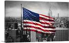 ARTCANVAS United States America Flag NYC New York City Skyline Canvas Art Print