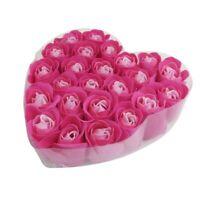 24 pezzi rosa rossa profumato bagno sapone petali di rosa nella scatola cuo I2B2