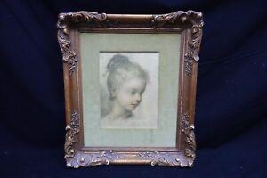Antique Rosalba Carriera Head Of Child