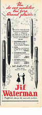 PUBLICITE ADVERTISING   1954   JIF WATERMAN   porte mine stylos
