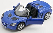 BLITZ VERSAND Opel Speedster 2001 blau / blue Welly Modell Auto 1:34 NEU & OVP