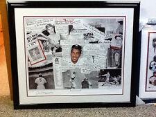 Joe DiMaggio & Robert Stephen Simon signed lithograph NY New York Yankees JSA