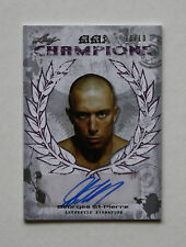 TOPPS UFC LEAF MMA CHAMPIONS 2010 BEAUTIFUL PURPLE CARD OF GSP # 10/10 RARE