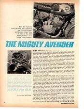 1967 KAWASAKI 350cc AVENGER MOTORCYCLE  ~  NICE ORIGINAL 3-PAGE ARTICLE / AD