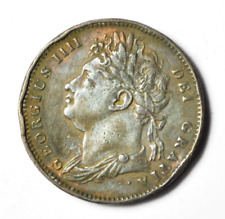 1821 Great Britain 1F Copper Farthing Dot After Date Rare KM#677