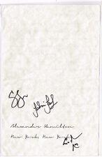 Hamilton Original STAGE USED + SIGNED Letter Prop Lin Manuel Miranda COA