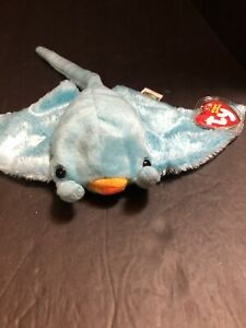 Ty Beanie Baby - SUNRAY the Manta Ray (10 Inch) MINT with MINT TAGS