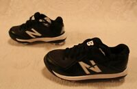 New Balance Unisex Low-Cut Rubber Molded Baseball Cleat HD3 Black Youth Size 12M