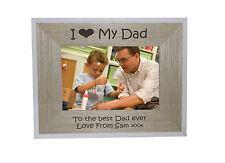 Mi heart-love My Dad 7 x 5 CORNICE BORDO BIANCO telaio legno-Incisione gratuita