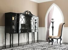 Display Cabinet - Black High Gloss Modern China Cabinet - Buffet Mistique II